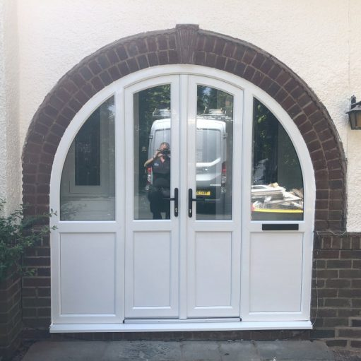 REHAU uPVC arched door