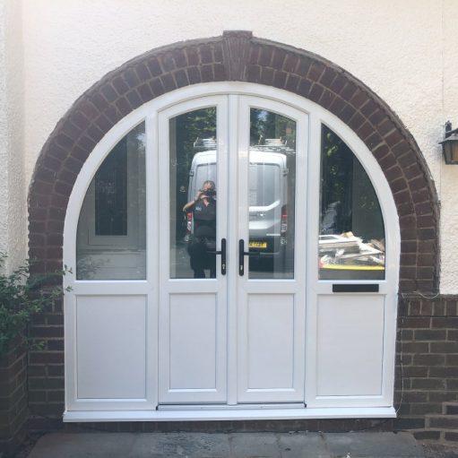 REHAU uPVC arched door