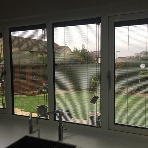 REHAU uPVC windows with integral blinds