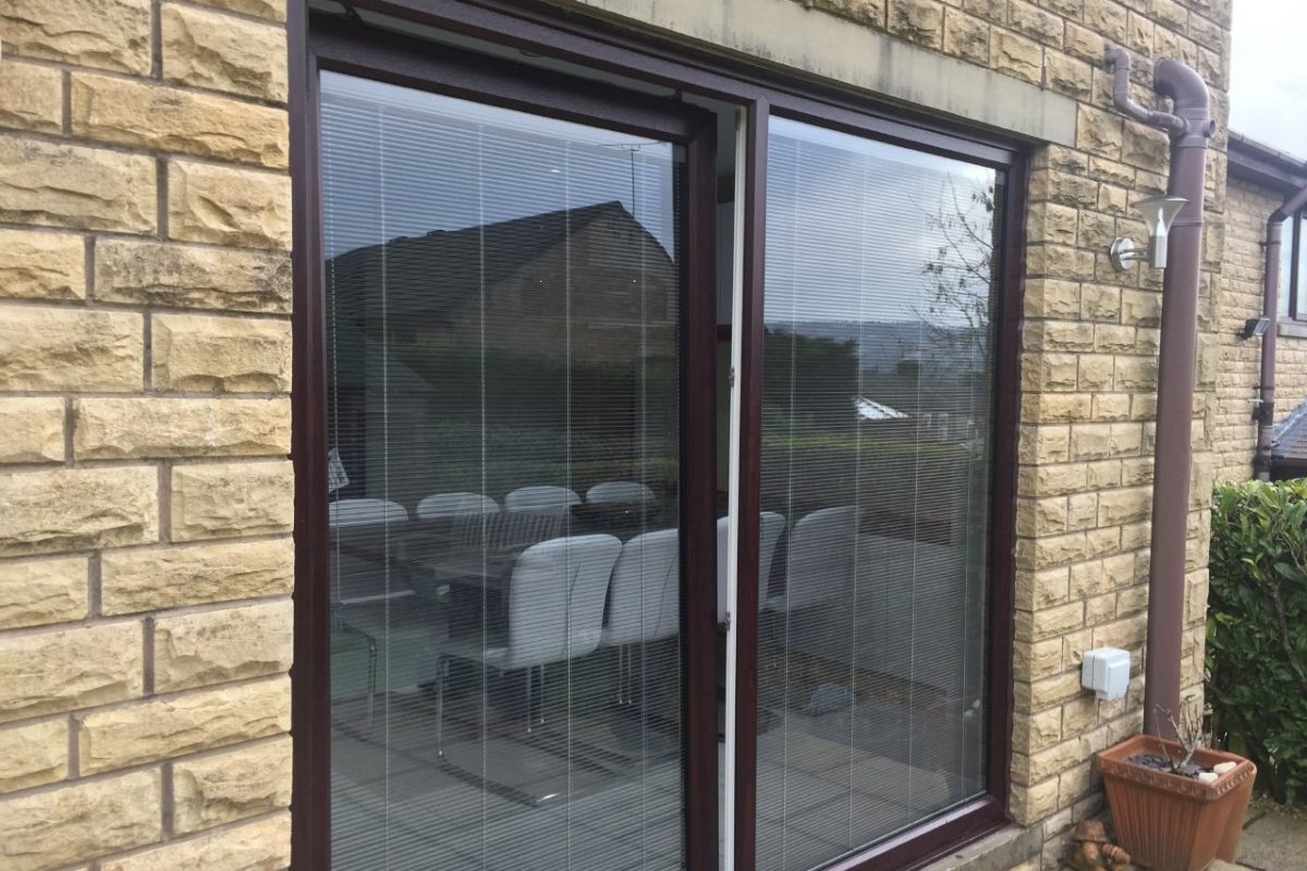 REHAU uPVC sliding doors with ScreenLine integral blinds, Barrowford