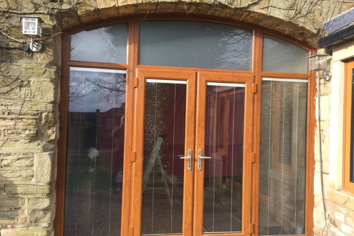 VEKA uPVC arched door, Burnley