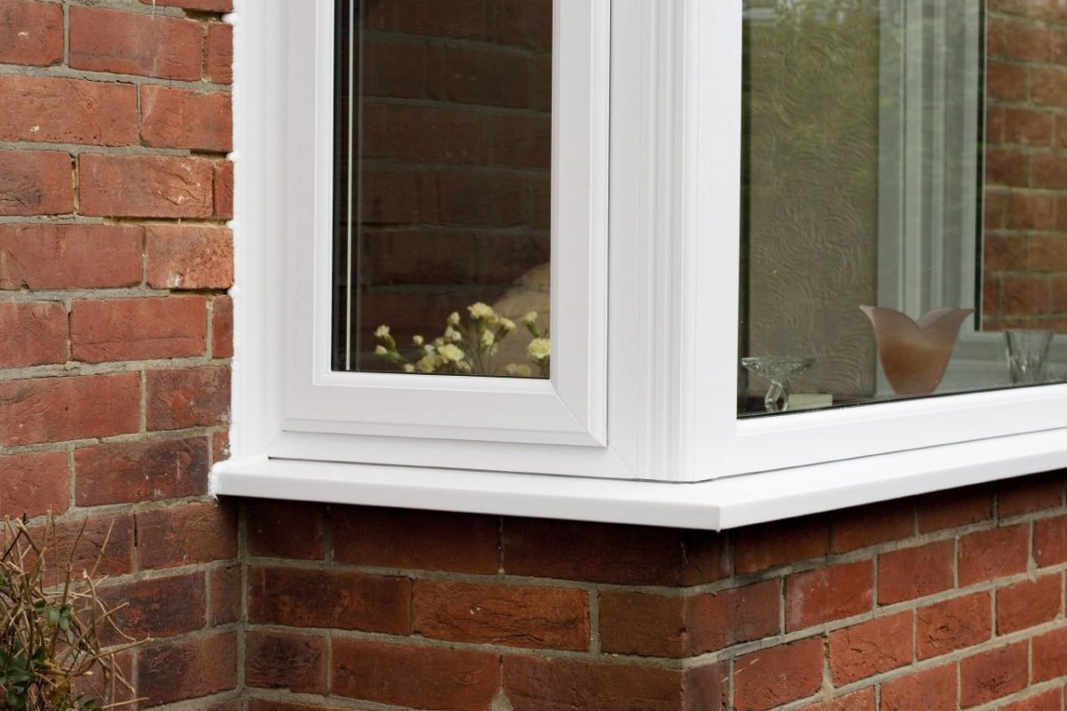 uPVC bay window detail