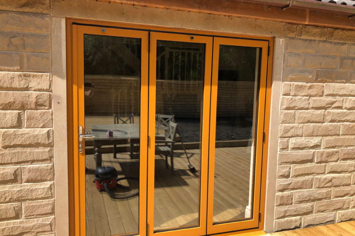 Sliders UK bifold doors with 3-3-0 configuration (closed), Brierfield