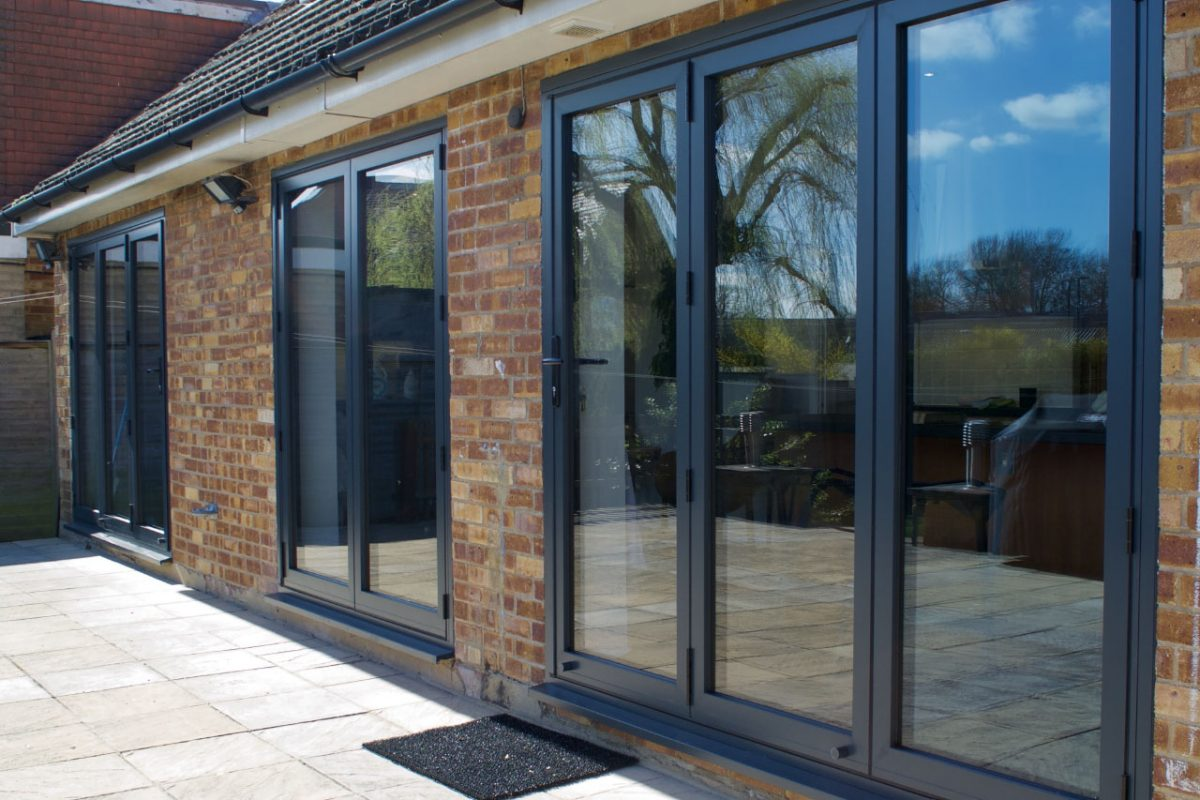 Sliders UK bi fold doors with 3-3-0 configuration (x2)